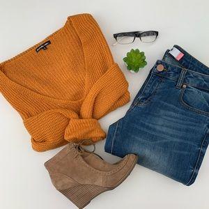 CHARLOTTE RUSSE Plus Burnt Orange Knit Sweater 3X